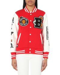Chocoolate - Appliqué Jersey Baseball Jacket - Lyst