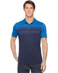 Calvin Klein Engineered Chest-Stripe Jersey Polo blue - Lyst