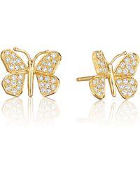 Mimi So - Wonderland Pavé Diamond Butterfly Stud Earrings - Lyst