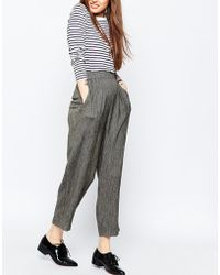 ASOS | Premium Tweedy High Waist Trouser | Lyst
