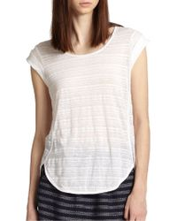 Marc By Marc Jacobs Eloise Linen & Cotton Sheer Striped Tee - Lyst