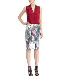 Rachel Roy - Marble Print Pencil Skirt - Lyst