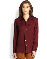 Ralph Lauren Blue Label Briony Blouse - Lyst