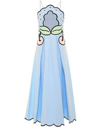 Alice Mccall Mo Exclusive Deja-vu Embroidered Cotton Dress - Lyst