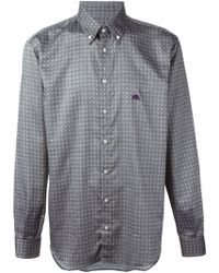 Etro Gray Patterned Shirt - Lyst
