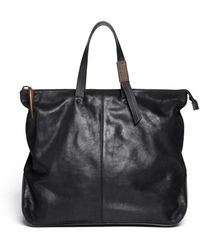 Giuseppe Zanotti - Shark Tooth Oversized Leather Tote - Lyst