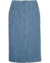Topshop Unique - Whitcomb Denim Skirt - Lyst