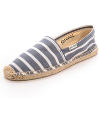 Soludos Classic Striped Espadrilles - Light Navy/White - Lyst