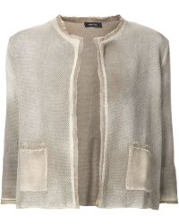 Avant Toi Distressed Tweed Jacket - Lyst