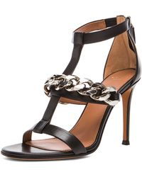 Givenchy Chain Leather Sandals - Lyst