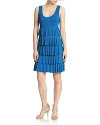 Spense - Tiered Shift Dress - Lyst