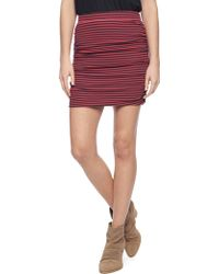 Splendid Ruched Mini Skirt - Lyst