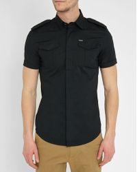 DIESEL | Black S-haul Shoulder Tab Short-sleeve Shirt | Lyst