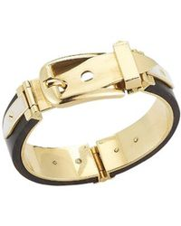 Gucci Pre-owned 18k Yellow Gold Wood and Enamel Bracelet - Lyst