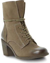 Steve Madden Gretchun Leather Lace-up Boots - Lyst