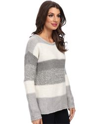 Calvin Klein Jeans Textured Colorblocked Crew Neck - Lyst