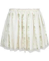 Girl. By Band Of Outsiders Gathered Skirt - Lyst