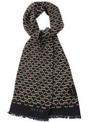 Gucci Horsebitprint Silk Scarf - Lyst