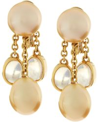 Assael - Golden South Sea Pearl Moonstone Earrings - Lyst