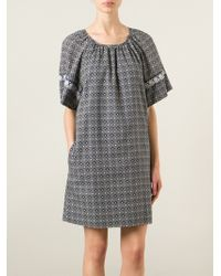 See By Chloé Floral Print Peasant Dress - Lyst