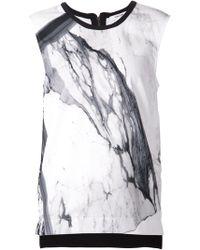 Helmut Lang Marble Print Top - Lyst