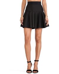 Milly Valencia Short Flare Skirt - Lyst