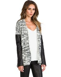Twelfth Street Cynthia Vincent - Leather Sleeve Log Cabin in Black - Lyst