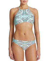 Nanette Lepore Montecito Stargazer Bikini Top green - Lyst