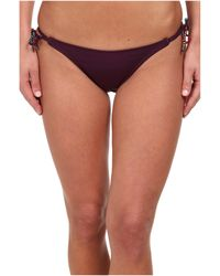 ViX Sofia By Solid Berry Long Tie Hipster Bottom - Lyst