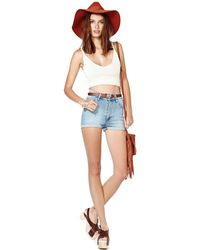 Nasty Gal Cheap Monday Short Skin Shorts - Lyst
