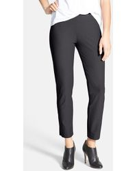 Eileen Fisher Stretch Crepe Ankle Pants - Lyst