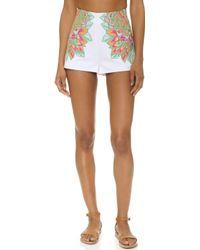 Mara Hoffman - Embroidered Shorts - Lyst