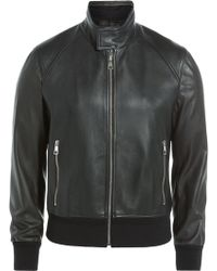 Neil Barrett Leather Jacket - Lyst