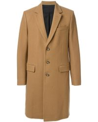 Ami Alexandre Mattiussi Single Breasted Overcoat - Lyst