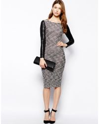 Wal-g Bodyconscious Dress with Contrast Sleeves - Lyst