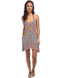 Trina Turk Peruvian Stripe Covers Short Dress Cove-up - Lyst