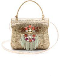 Furla Fringe Candy Mini Bon Bon Bag - Gold - Lyst