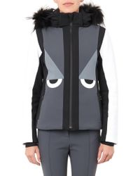 Fendi Creatures Fur-Trimmed Hooded Ski Jacket - Lyst