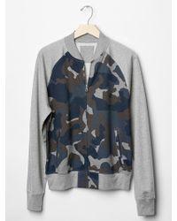 Gap Fleece Camo Bomber Jacket - Lyst
