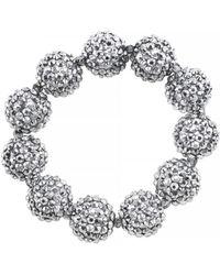 Kenneth Jay Lane Silver-tone Glitz Ball Stretch Bracelet - Lyst