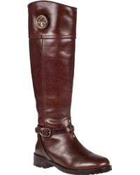 Tory Burch Teresa Riding Boot Almond Leather - Lyst