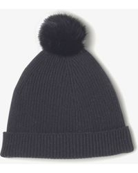 Vince - Cashmere Beanie With Fur Pom - Lyst