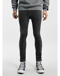Topman Washed Black Super Spray On Jeans - Lyst