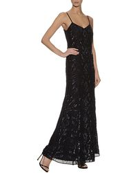 Needle & Thread Ebony Lace Embellished Maxi Dress - Lyst