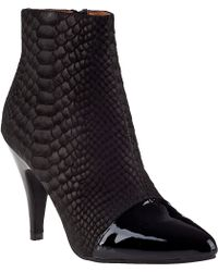 Jeffrey Campbell Jessa Ankle Boot Black Snake - Lyst