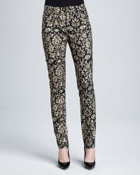 Lafayette 148 New York Curvy Slim Printed Jeans - Lyst