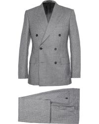 Kingsman Grey Double-Breasted Prince Of Wales Check Suit - Lyst