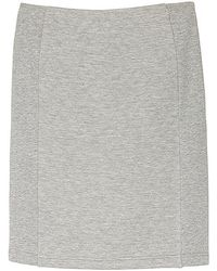 Olive & Oak - Quilted Knit Pencil Skirt - Lyst