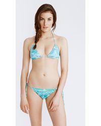 Faherty Brand String Bikini Top blue - Lyst