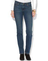Ralph Lauren Lauren Classic Straight Leg Jeans in Harbor - Lyst